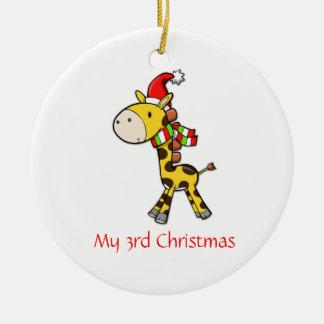 Ornamento del navidad de la jirafa de los niños ornamentos de reyes magos