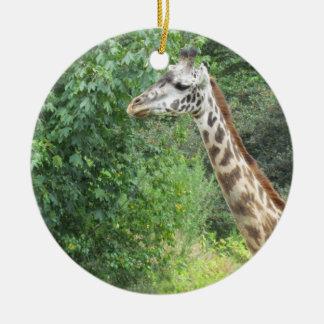 Ornamento del navidad de la jirafa adorno de navidad