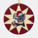 Ornamento del navidad de la koala y del Cockatoo Adorno Para Reyes