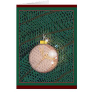 Ornamento del navidad de la libélula tarjeta