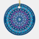 Ornamento del navidad de la mandala de la paz ornamentos de reyes magos