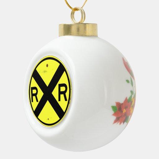Ornamento del navidad de la muestra de la travesía adorno