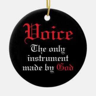 Ornamento del navidad de la música de la voz adorno navideño redondo de cerámica
