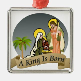 Ornamento del navidad de la natividad el   (azul) ornamentos para reyes magos