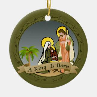 Ornamento del navidad de la natividad (verde) el   adorno para reyes