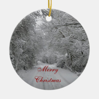 Ornamento del navidad de la nieve del invierno ornamento para arbol de navidad