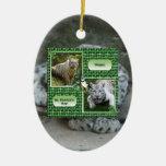 Ornamento del navidad de la onza ornaments para arbol de navidad