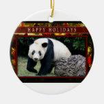 Ornamento del navidad de la panda gigante o de la ornatos