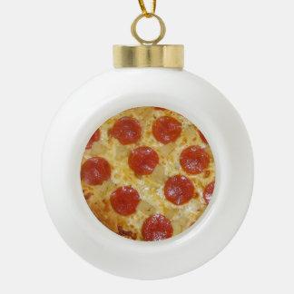 Ornamento del navidad de la PIZZA Adorno De Cerámica En Forma De Bola