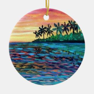 Ornamento del navidad de la puesta del sol de la i ornamento de reyes magos