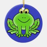 Ornamento del navidad de la rana adorno de reyes