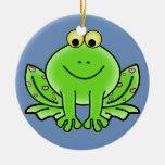 Ornamento del navidad de la rana ornamentos de reyes magos