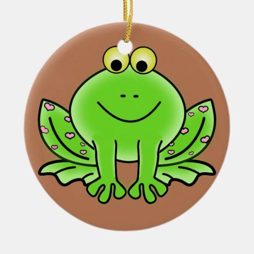 Ornamento del navidad de la rana ornamente de reyes