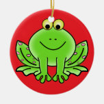 Ornamento del navidad de la rana ornaments para arbol de navidad