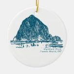 Ornamento del navidad de la roca del Haystack Ornamento De Navidad