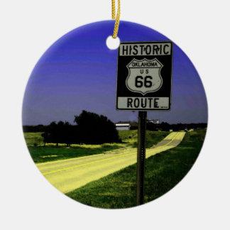 Ornamento del navidad de la ruta 66 adorno