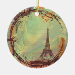 Ornamento del navidad de la torre Eiffel Adorno