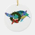 Ornamento del navidad de la tortuga de mar ornaments para arbol de navidad