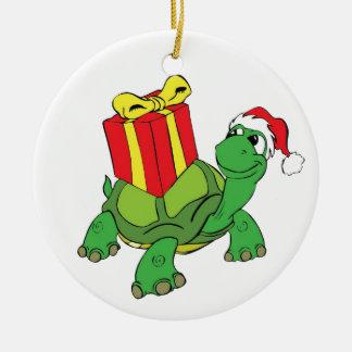 Ornamento del navidad de la tortuga ornamentos de navidad