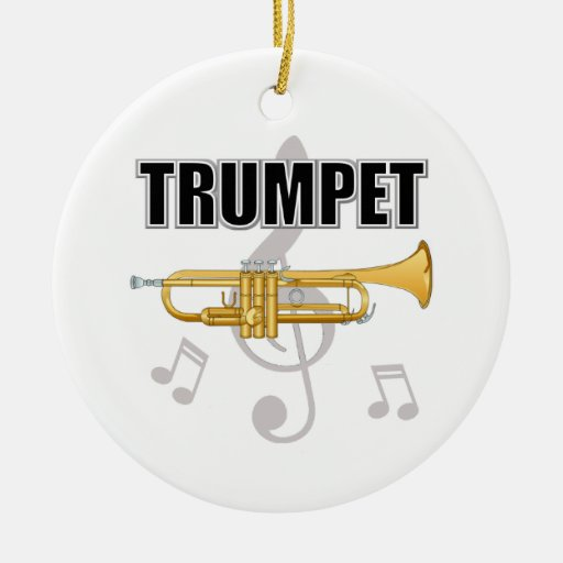 Ornamento del navidad de la trompeta ornamentos de navidad