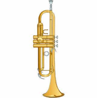 Ornamento del navidad de la trompeta fotoescultura vertical