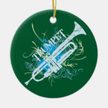 Ornamento del navidad de la trompeta ornatos