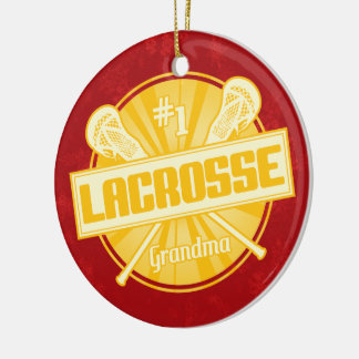 Ornamento del navidad de LaCrosse, abuela de #1 Adorno Navideño Redondo De Cerámica