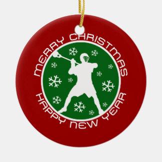 Ornamento del navidad de LaCrosse Adorno Navideño Redondo De Cerámica