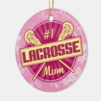 Ornamento del navidad de LaCrosse, mamá de #1 LAX Adorno De Reyes