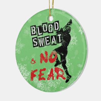 Ornamento del navidad de LaCrosse, sudor de la san Ornaments Para Arbol De Navidad