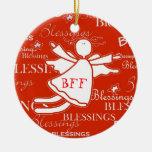 Ornamento del navidad de las bendiciones del ángel ornamentos para reyes magos