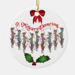 Ornamento del navidad de las cabras del baile adorno