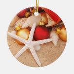Ornamento del navidad de las estrellas de mar ornamento de navidad