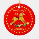 Ornamento del navidad de las estrellas del caballo adorno
