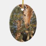 Ornamento del navidad de las jirafas adorno