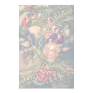 Ornamento del navidad de las notas musicales papelería de diseño