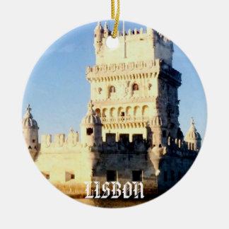 Ornamento del navidad de Lisboa Adorno Navideño Redondo De Cerámica