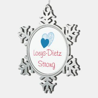 Ornamento del navidad de Loeys-Dietz Adorno De Peltre En Forma De Copo De Nieve