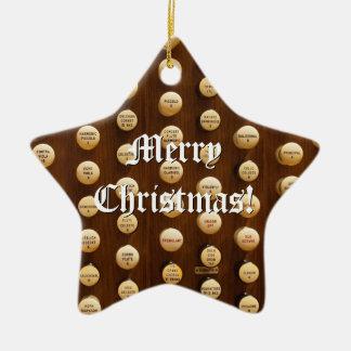 Ornamento del navidad de los botones de la parada adorno navideño de cerámica en forma de estrella