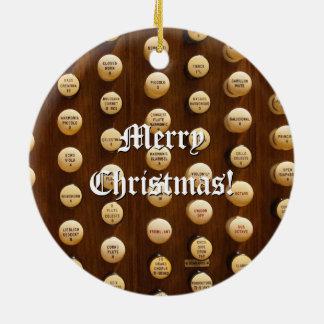 Ornamento del navidad de los botones de la parada adorno navideño redondo de cerámica