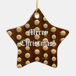Ornamento del navidad de los botones de la parada  ornamentos de navidad