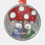 ornamento del navidad de los conejitos del amor ornamento para reyes magos