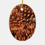 ornamento del navidad de los conos del pino adornos de navidad