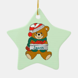 Ornamento del navidad de los muchachos del oso de  ornaments para arbol de navidad