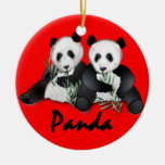Ornamento del navidad de los osos de panda gigante ornaments para arbol de navidad