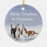Ornamento del navidad de los perros de ornamentos de reyes