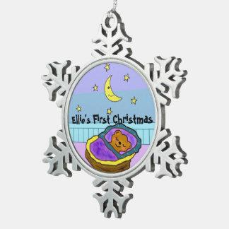 Ornamento del navidad de los sueños dulces de adorno de peltre en forma de copo de nieve