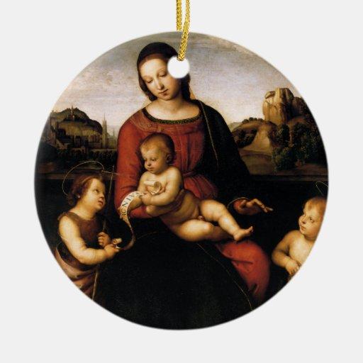 Ornamento del navidad de Madonna di Terranuova Ornamento Para Arbol De Navidad