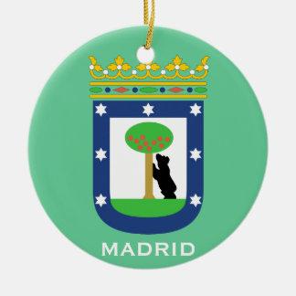 Ornamento del navidad de Madrid* Adorno Navideño Redondo De Cerámica