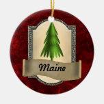 Ornamento del navidad de Maine Adorno Redondo De Cerámica